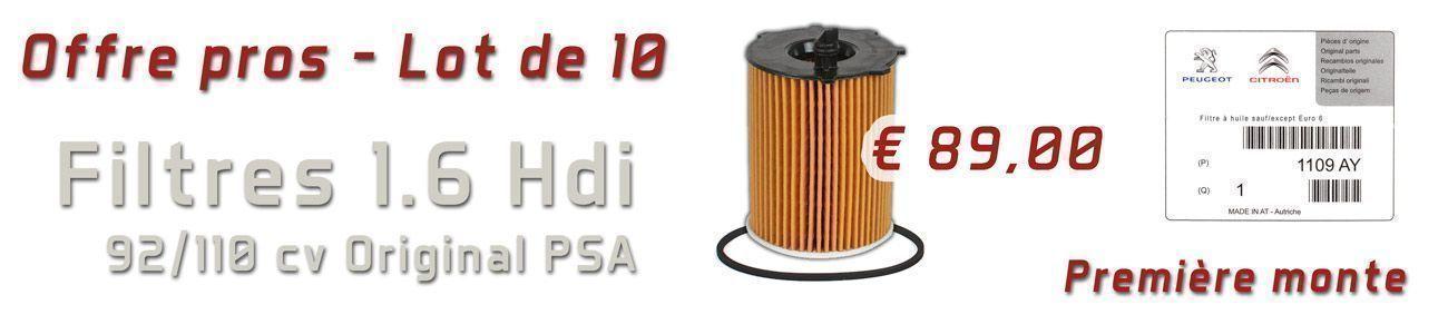 Lot de 10 filtre huile 1.6 HDI origine PSA
