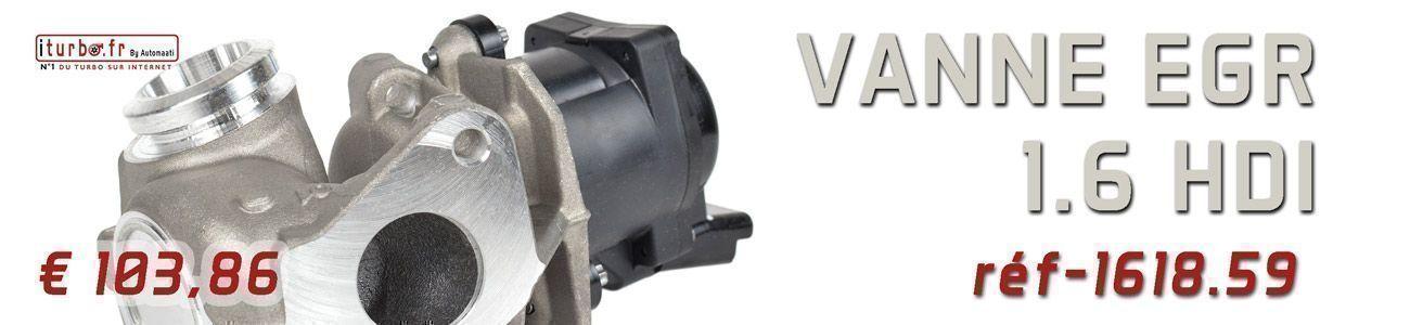 Vanne EGR iTurbo 1.6 HDI 1618-59