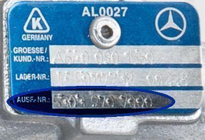 Plaque constructeur turbo echange standard KKK